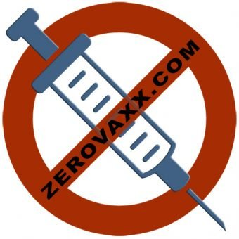 Slashed circle over syringe logo for ZEROVAXX.com